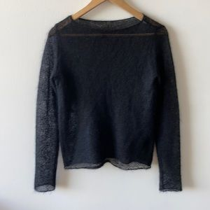 DKNY Essentials soft netted wool sweater